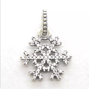 Jewelry - S925 Sterling Silver CZ Snowflake Pendant or Bead
